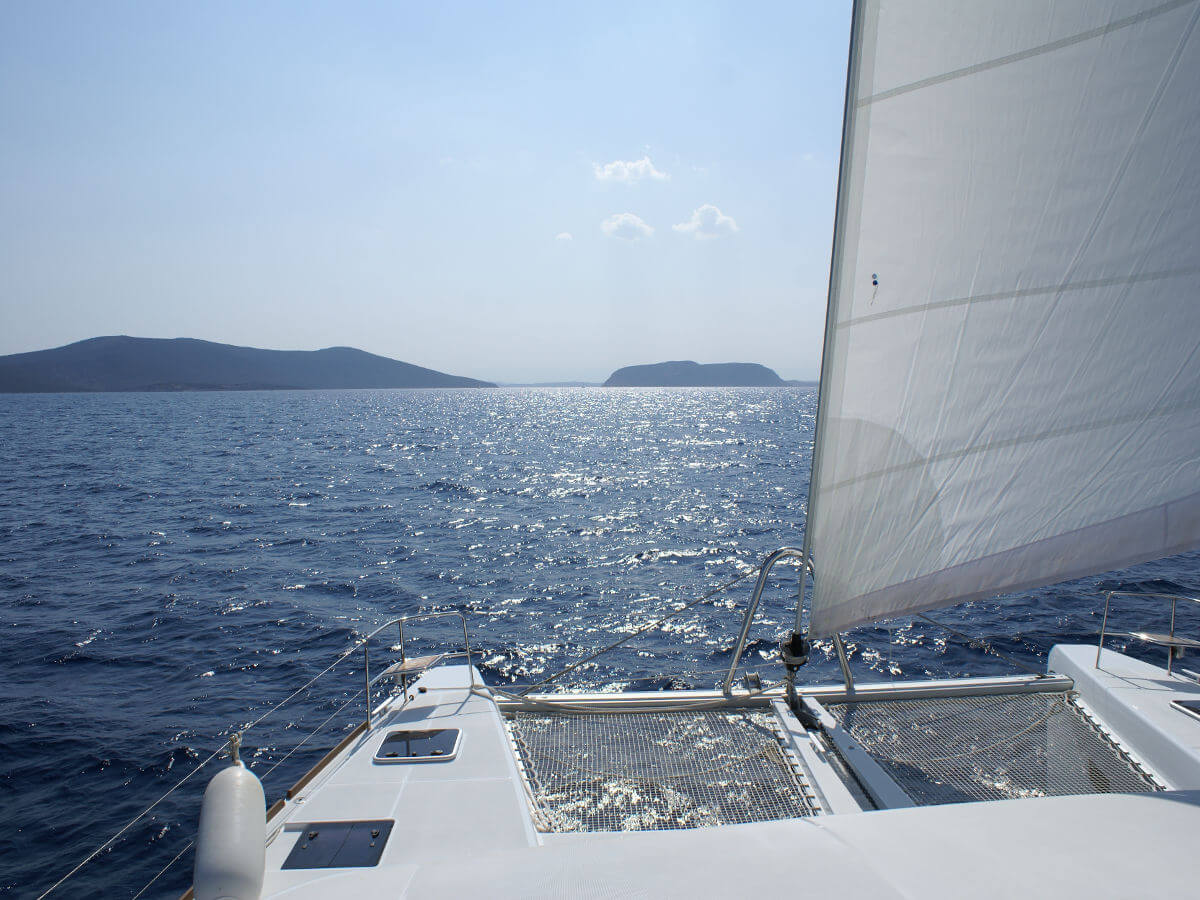 Aegean Sea Sail Hike Tour catamaran