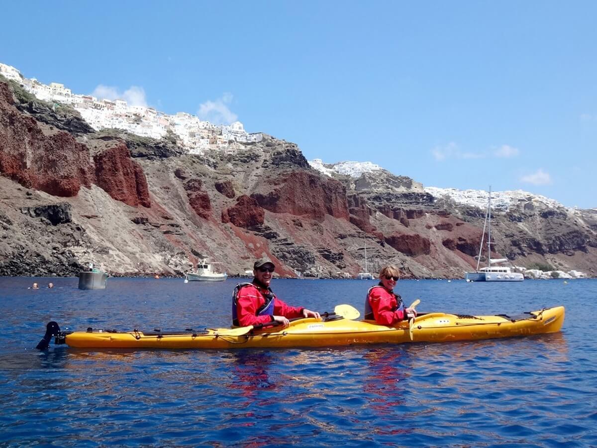 Greece Ultimate Experience Tour - Santorini Sea Kayaking
