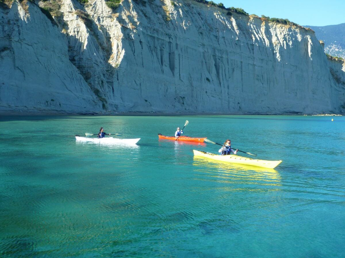 Kefalonia village hopping sea kayak tour