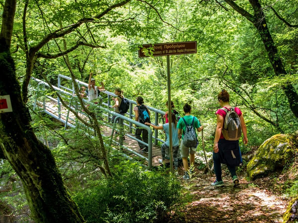 menalon trail hikers
