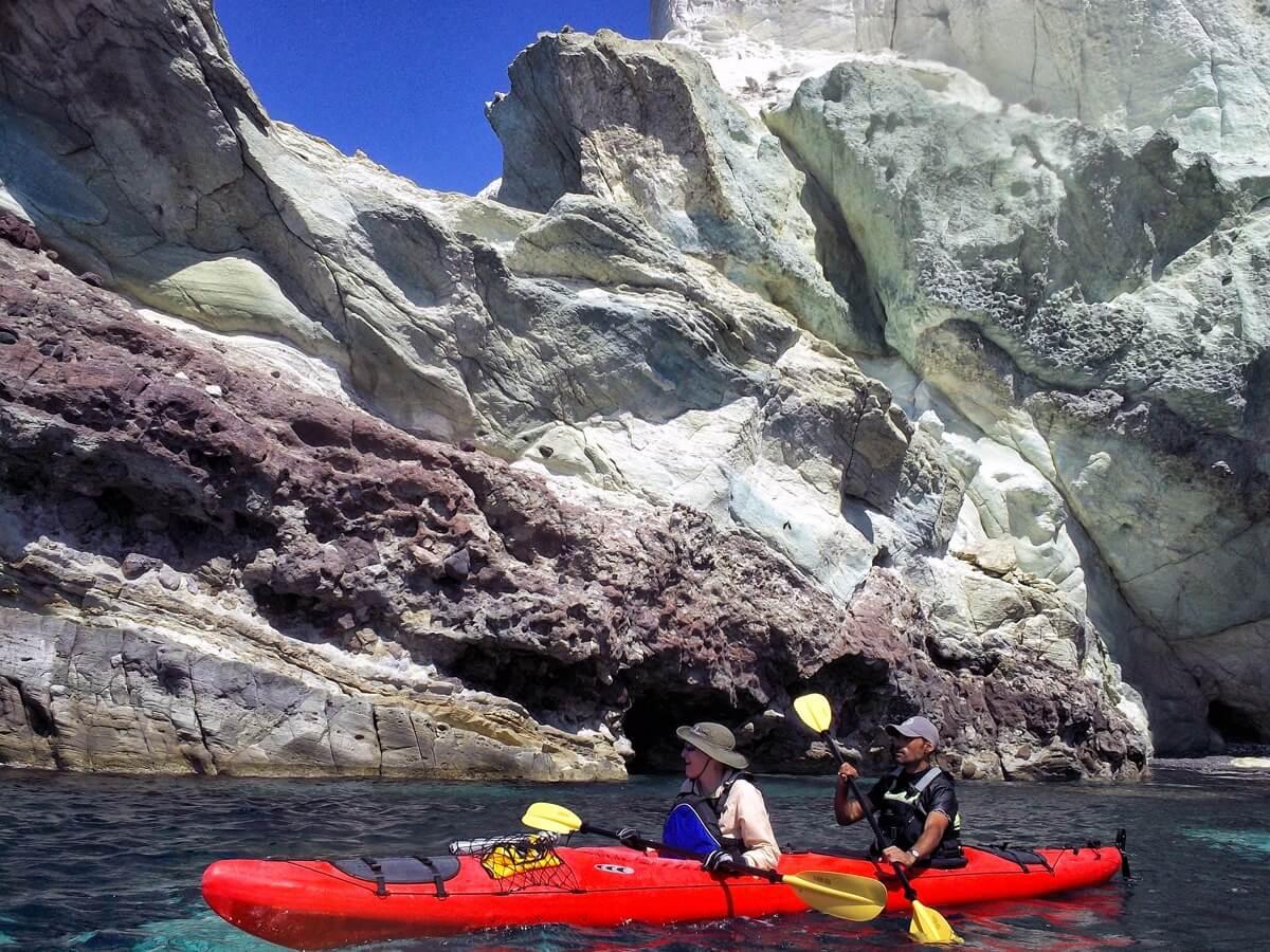 Santorini sea kayak tour